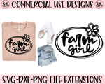 Farm Girl SVG DXF PNG (2019)