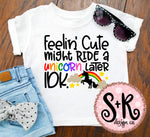 Feelin Cute Unicorn SVG DXF PNG (2019)