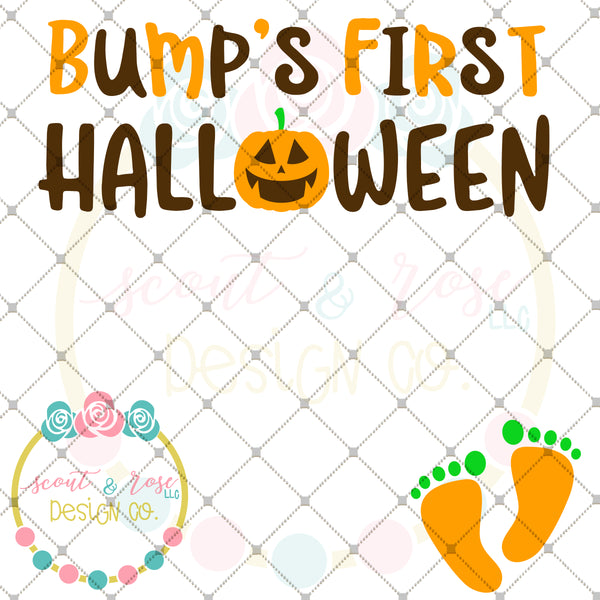Bump First Halloween SVG DXF PNG