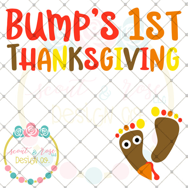 Bump's First Thanksgiving SVG DXF PNG