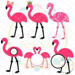 Flamingo Set 1 SVG DXF PNG