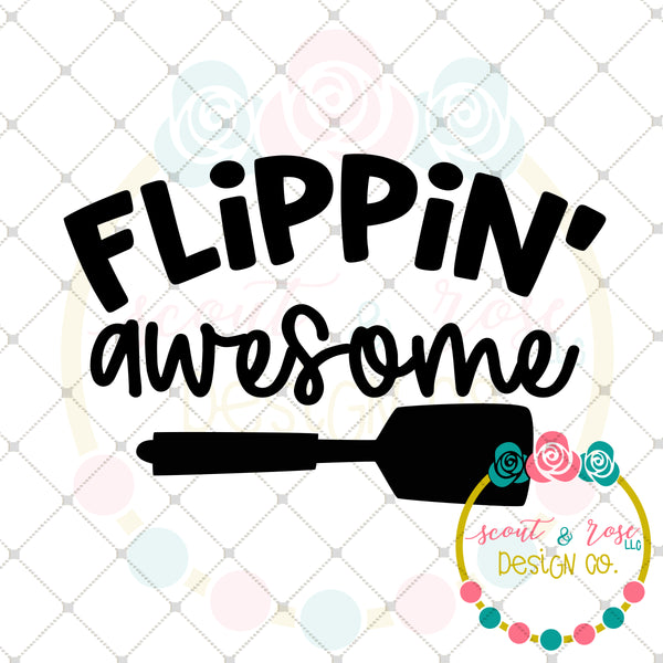 Flippin' Awesome SVG DXF PNG