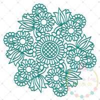 Garden Zentangle SVG DXF PNG