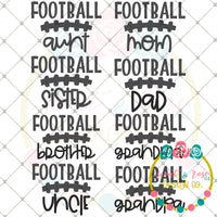 Football Family Set SVG DXF PNG