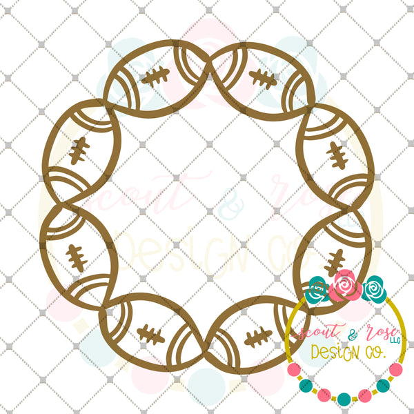 Free Football Monogram Frame