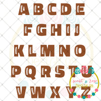 Football Layered Letter Set SVG DXF PNG