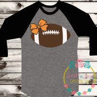 Football with Bow SVG DXF PNG