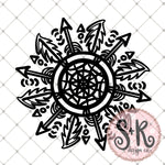 FREE Dream Catcher Mandala SVG DXF PNG