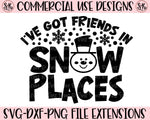 Friends In Snow Places SVG DXF PNG (2019)