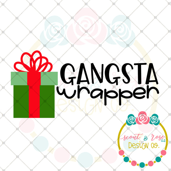 Gangsta Wrapper SVG DXF PNG