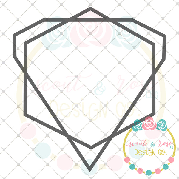 Geometric Frame SVG DXF PNG