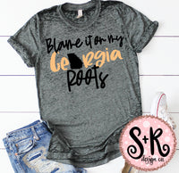 Blame It On My Georgia Roots SVG DXF PNG (2019)