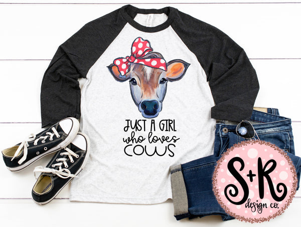 Girl Who Loves Cows Printable/Printable PNG Design (2019)