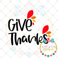 Give Thanks SVG DXF PNG