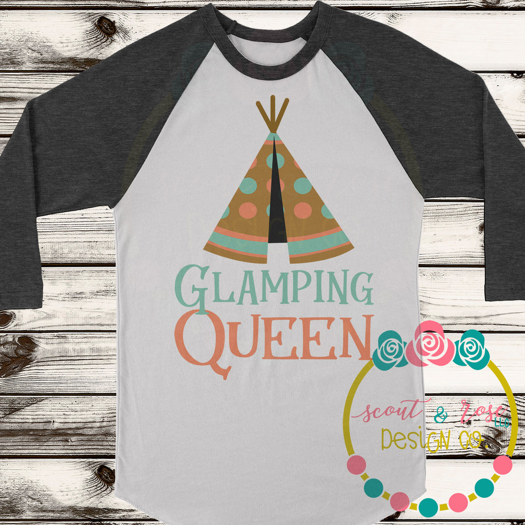 Glamping Queen SVG DXF PNG