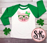 Pig With Glasses St. Paddys SVG DXF PNG (2019)