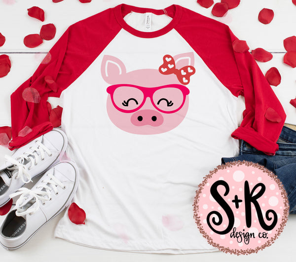 Pig With Glasses V-day SVG DXF PNG (2019)