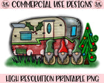 Gnome Christmas Camper Printable Design (2019)
