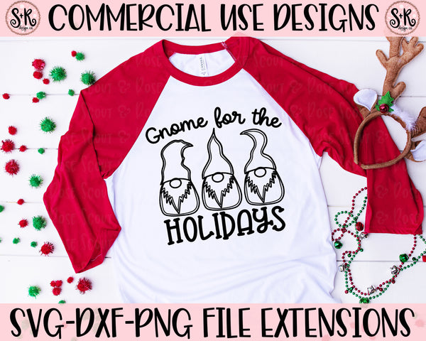 Gnome For The Holidays SVG DXF PNG (2019)