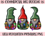 Christmas Lights Gnomes Printable Design (2019)