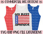 God Bless America SVG DXF PNG (2020)