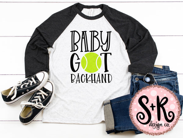 Baby Got Backhand Tennis SVG DXF PNG (2019)