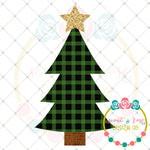 Buffalo Plaid Christmas Tree Sublimation Design
