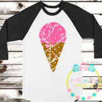 Grunge Ice Cream SVG DXF PNG