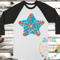 Grunge Starfish SVG DXF PNG