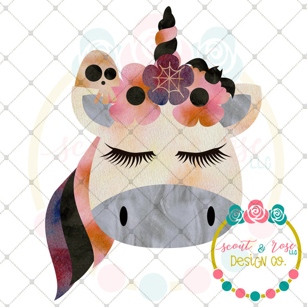 Halloween Unicorn Sublimation Design