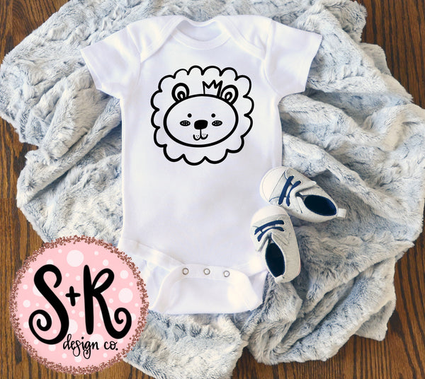Hand Drawn Baby Lion SVG DXF PNG (2019)