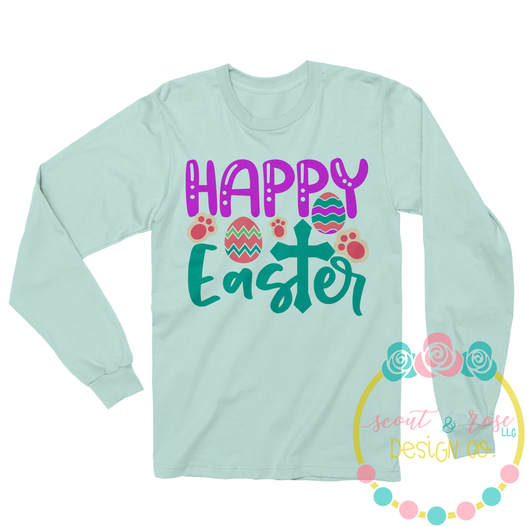 Happy Easter SVG DXF PNG