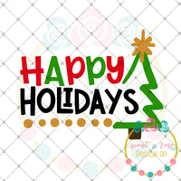 Happy Holidays SVG DXF PNG