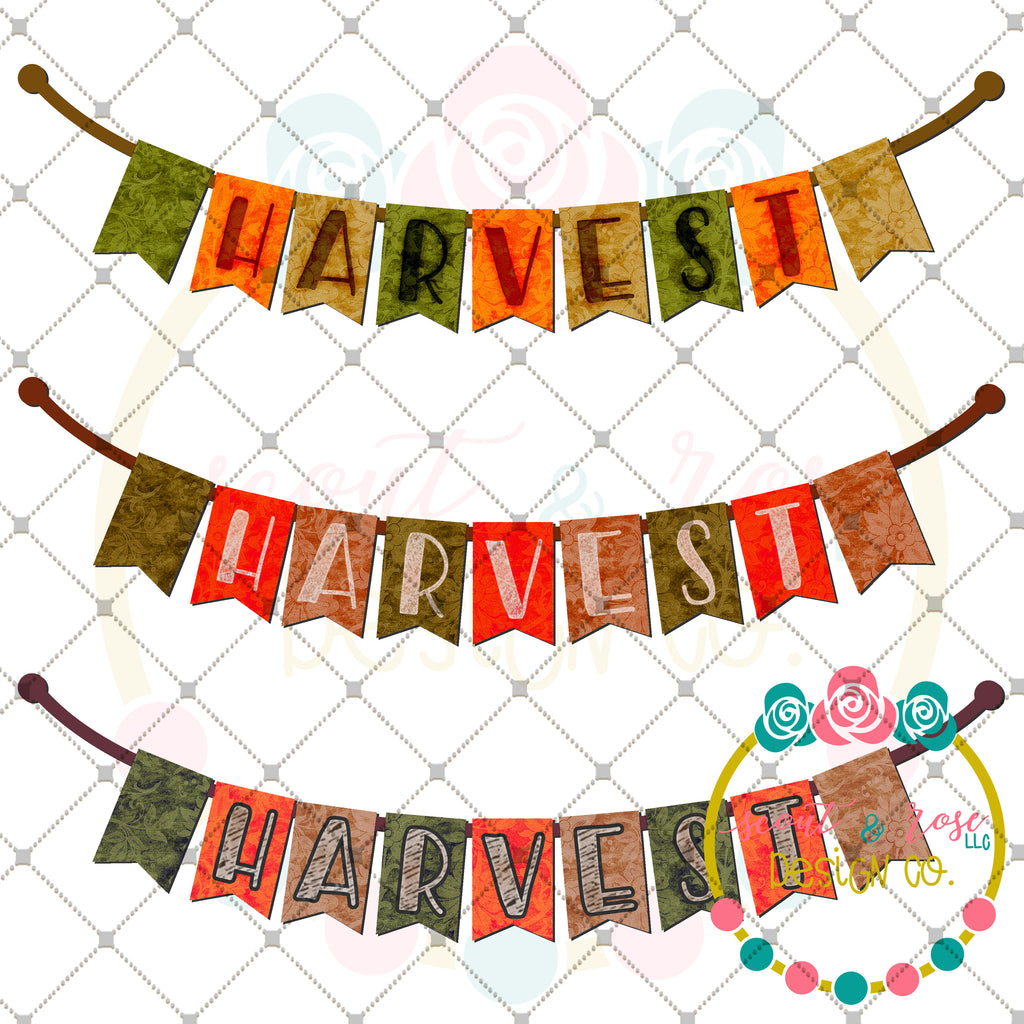 Harvest Banner Set Printable Design