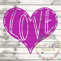 Love Heart SVG DXF PNG