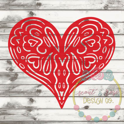 Decorative Heart SVG DXF PNG