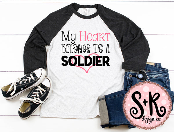 Heart Belongs to a Soldier SVG DXF PNG (2019)