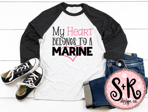 Heart Belongs to a Marine SVG DXF PNG (2019)