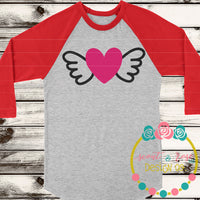 Heart with Wings SVG DXF PNG