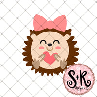 Hedgehog Valentines Day SVG DXF PNG