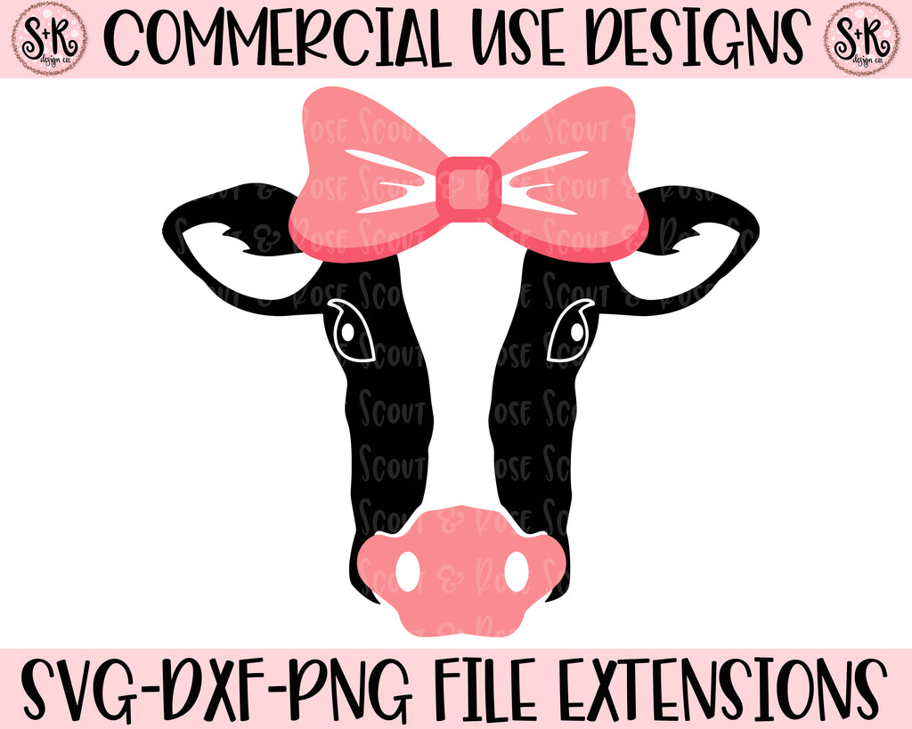 Cow Cut File SVG DXF PNG (2019)