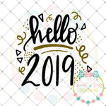 Hello 2019 SVG DXF PNG