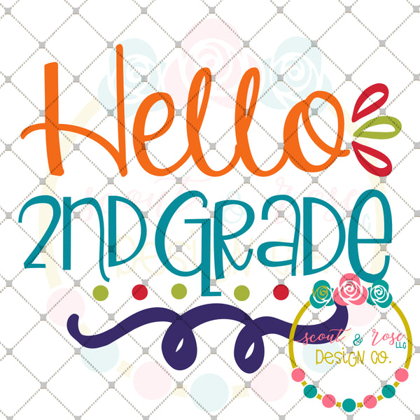 Hello 2nd Grade SVG DXF PNG