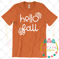 Hello Fall SVG DXF PNG