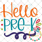 Hello Pre-K SVG DXF PNG