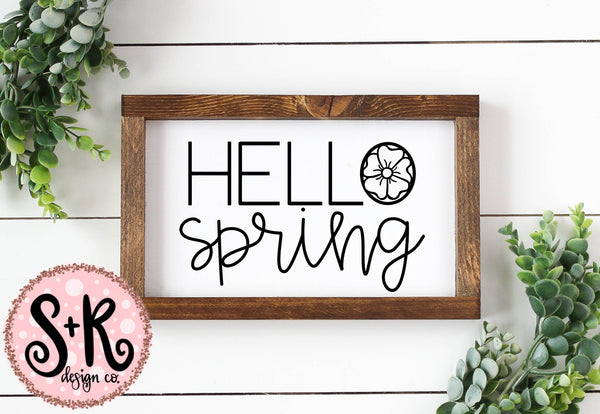 Hello Spring SVG DXF PNG (2019)