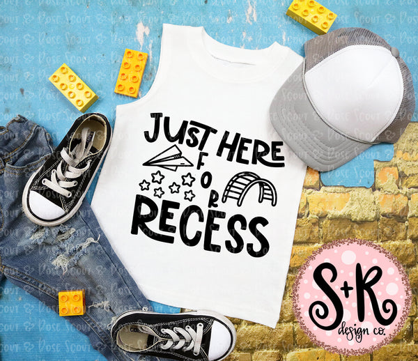 Here for Recess SVG DXF PNG (2019)