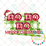 Ho Ho Ho Merry Christmas Marquee Sublimation Design