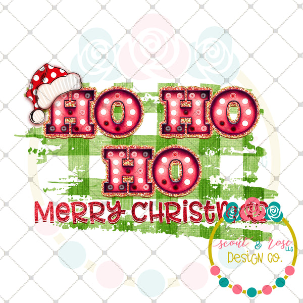 Ho Ho Ho Merry Christmas Marquee Printable Design