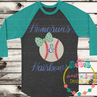 Homeruns & Hairbows SVG DXF PNG